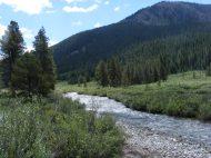 Texas Creek runs through it