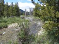 Texas Creek flowing towards its ultimate Pacific destiny