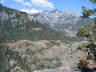 Looking across Uncompahgre Gorge from Bear Creek Trail