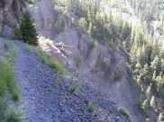 Bear Creek Trail; yes, this is the trail - use caution!