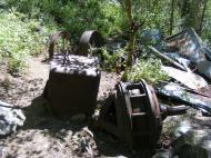 Old machinery at the Grizzly Bear Mine