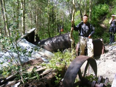The author at the site of the Grizzly Bear Mine