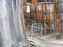 The old boarding house at the Forks of Bear Creek; home mostly to pack rats