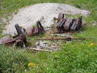 Nature will eventually claim even these large pieces of machinery found at the Forks of Bear Creek