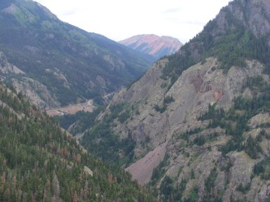 Aptly named Red Mountain is near the head of Uncompahgre Gorge