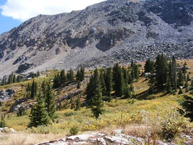 Mountains adjacent to Brush Creek