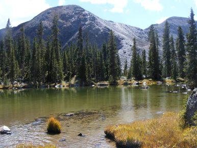 Classic Rocky Mountain setting near Lamphier Lake