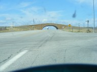 Wildlife overpass on U.S. 191 just north of Pinedale, Wyoming