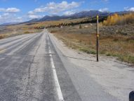 Wyoming State Highway 352 and autumn colors