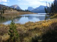 Near the outlet of Lower Green River Lake