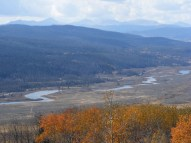 The Gros Ventre Mountains in the background over Green River