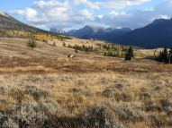Returning to Green River Lakes Campground on the Highline Trail