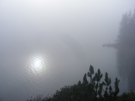 Lower Green River Lake in the mist