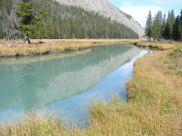 The upper Green River, here colored turquoise