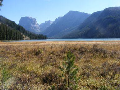 Lower Green River Lake below Squaretop Mountain