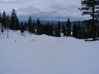 Clouds sailing over a small meadow adjacent to Old Monarch Pass