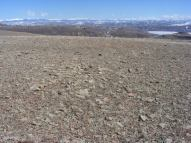 Grassy mesa top, looking east towards the Continental Divide