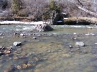 The Cimarron River flowing clear