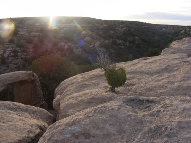 Sunset over Little Ruin Canyon, Hovenweep National Monument
