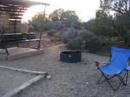 Sunset at camp, Hovenweep National Monument