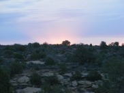 Dawn over Hovenweep National Monument Campground