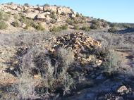 Mound of rubble in Keeley Canyon