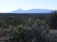 Sleeping Ute Mountain seen on the hike between Holly Unit and Horseshoe and Hackberry Unit