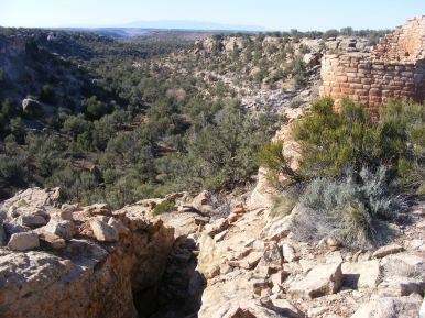 Looking into Hackberry Canyon from Tower Point Ruin