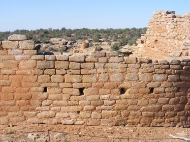Remnants of large village at the head of Hackberry Canyon, Hovenweep National Monument