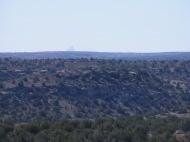 Near Holly Unit, Hovenweep National Monument, Shiprock is visible on the horizon
