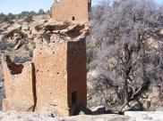 Holly Tower, one of my personal favorite ruins of Hovenweep National Monument, and Holly House on the rim