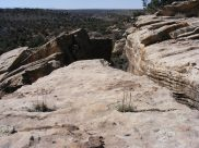 Descent into Keeley Canyon, on the trail between Holly Unit and Square Tower Unit, Hovenweep National Monument