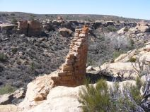 Square Tower Unit ruins on the rim of Little Ruin Canyon, Hovenweep National Monument