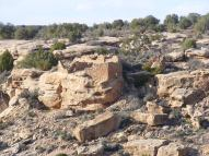Ruins on the rim of Little Ruin Canyon, Hovenweep National Monument