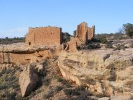Hovenweep Castle in the evening light