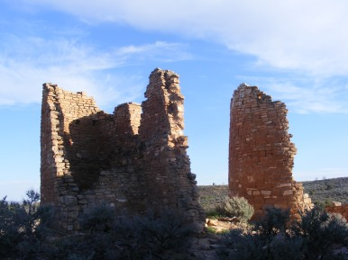Hovenweep Castle against the evening's sky