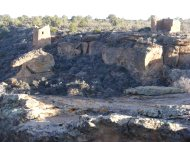 Ruins on the edge of Little Ruin Canyon