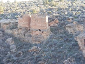 Twin Towers in shadow, Hovenweep National Monument