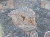 Eroded Boulder House in Little Ruin Canyon, Hovenweep National Monument
