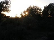 Sunset in Hovenweep National Monument Campground