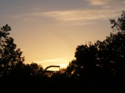 Sunset's golden moment at the Hovenweep National Monument Campground