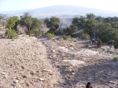 McCarty Trail on Camp Ridge, Grand Mesa on the horizon