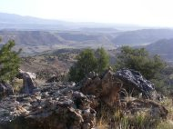 Looking east at the Gunnison River from Camp Ridge on the McCarty Trail