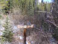 Where the Gold Creek Road crosses Lamphier Creek