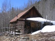 Old cabin near the Sandy Hook Mine on Gold Creek
