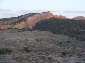 Anticline seen from Rabbit Valley