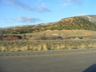 Early morning on Interstate 70, Utah