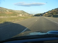 The morning sun behind me as I cruise west on Interstate 70, Utah