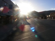 Downtown Salina, Utah, in the early morning