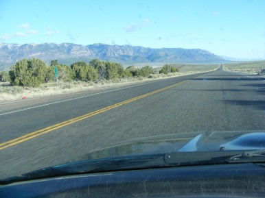 U.S. 50 between Scipio and Salina, the road stretches out for miles and the views are endless on this clear day